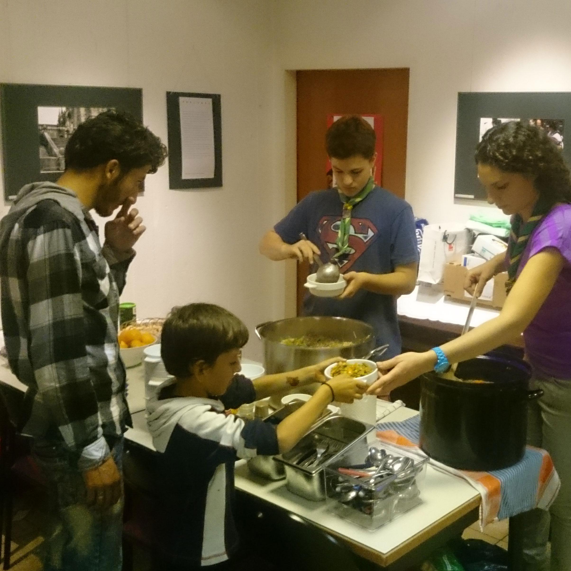 Gruppe 81 kocht für Flüchtlinge – end (?) of an era